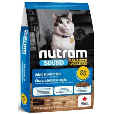 NUTRAM (Нутрам) S5 Sound Balanced Wellness Adult / Urinary Cat корм для дорослих котів