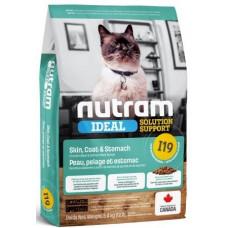 NUTRAM I19 NEW Solution Support Skin, для котов с проблемами желудка, кожи, шерсти