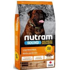 NUTRAM S8 NEW Sound Balanced Wellness Large Breed Adult Dog, холистик корм для крупных собак