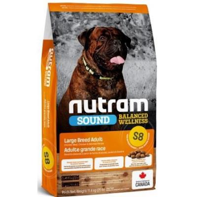 NUTRAM (Нутрам) S8 Sound Balanced Wellness Large Breed Adult Dog, холістік корм для великих собак
