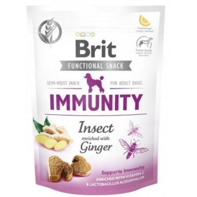 Brit Care Immunity Insect&Ginger Функциональные лакомства для собак насекомые с имбирем,150г