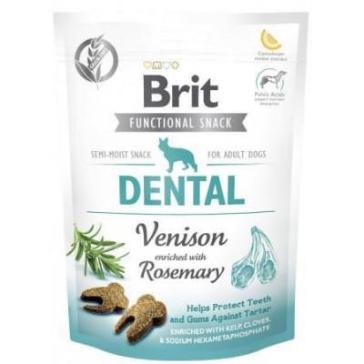 Brit Care Dental Venison&Rosemary Функциональные лакомства для собак оленина с розмарином,150г