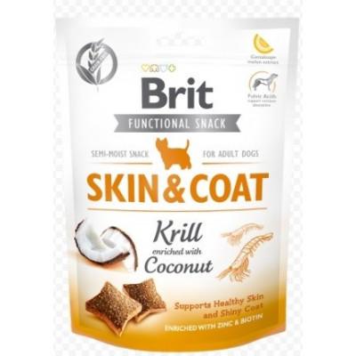 Brit Care Skin&Coat Функциональные лакомства для собак криль с кокосом,150г