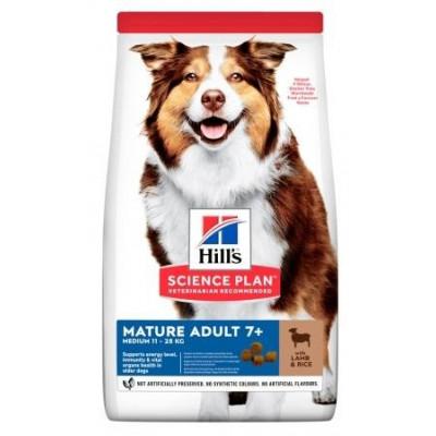 Hills (Хиллс) NEW Mature Adult7+ Medium Breed сухой корм для собак с ягненком и рисом