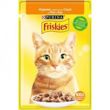 Friskies  для кошек с курицей кусочки в подливе, 85 гр.