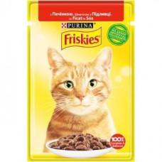 Friskies  для кошек с печенью кусочки в подливе, 85 гр.