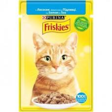 Friskies для кошек с лососем кусочки в подливе, 85 гр