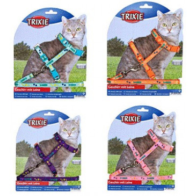 Шлейка с поводком для кошек TRIXIE
