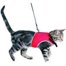 Шлея-маечка с поводком для котов TREXIE