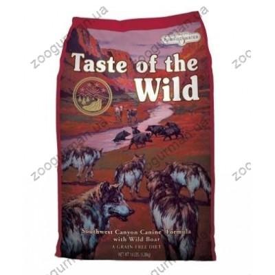 Taste of the Wild SOUTHWEST CANYON CANINE для взрослых собак всех пород с мясом дикого кабана , 12,2 кг