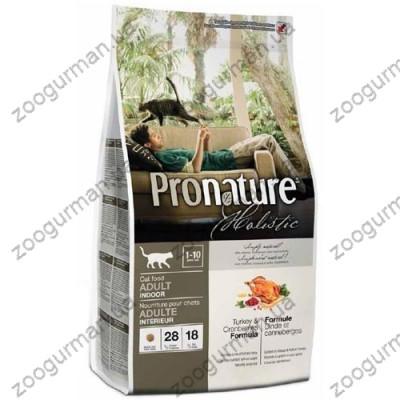 Pronature Holistic для котов с индейкой и клюквой