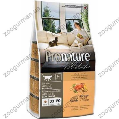 Pronature Holistic для котов с уткой и апельсинами