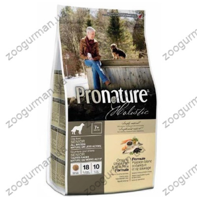 Pronature Holistic (Пронатюр Холистик) с океанической белой рыбой и диким рисом корм для собак
