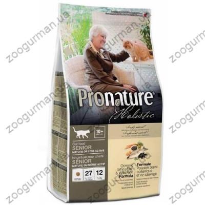 купити Pronature Holistic с океанической белой рыбой и диким рисом для малоактивных или пожилых кошек в Одеси