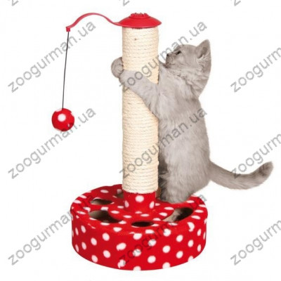 Трикси драпак с игрушкой,45см,красный/белый