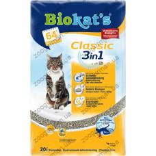 Наполнитель Biokats CLASSIC (3in1) комкующийся