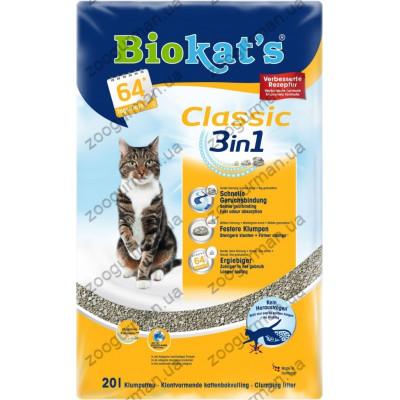 купити Наполнитель Biokats Classic 3in1 комкующийся в Одеси