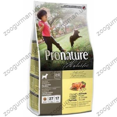 купити Pronature Holistic (Пронатюр Холистик) с курицей и бататом для щенков в Одеси