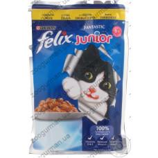 Felix Fantastiс Junior Курица в желе для котят, 100 гр
