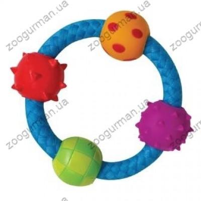 купити PETSTAGES Multi Texture Chew Ring Игрушка для собак Канат-кольцо с мячиками в Одеси