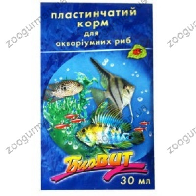 Корм для рыб  Биовит БАЗИС пластинчатый 10гр /15шт