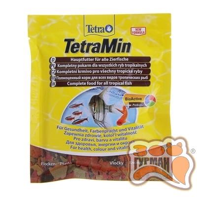 Tetra MIN 12г хлопья основной корм /766402