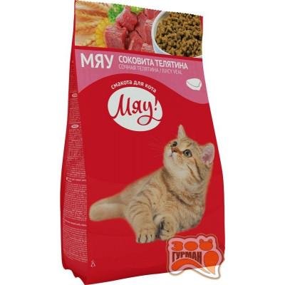 купити Мяу телятина сухой корм для взрослых кошек, 14кг в Одеси