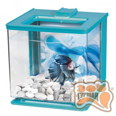 купити Акваріум HAGEN для півника Betta Kit EZ Care 2.5L блакитний 13359 в Одеси