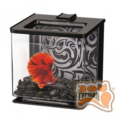 Аквариум HAGEN д/петушка Betta Kit EZ Care 2.5L черный 13358