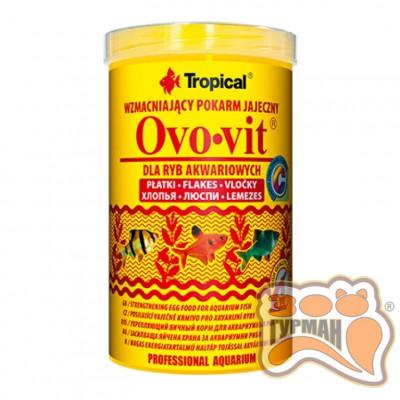 Tropical Ovo-vit 250мл/50г(хлопья) с выс.содерж. яичного желтка для всех видов рыб 77034