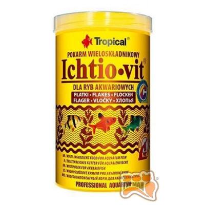 купити Tropical Ichtio-vit 250мл/50гр (хлопья)основ. корм для всех видов рыб 77004 в Одеси