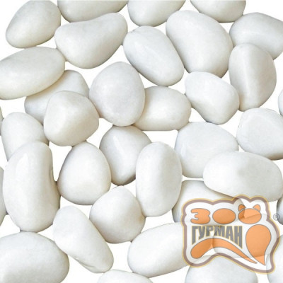 купити Грунт натуральный Белая галька 20кг (6-8мм) 5853 в Одеси