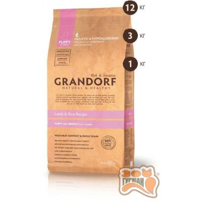 Grandorf Puppy - ягненок с рисом для щенков с 3 недель