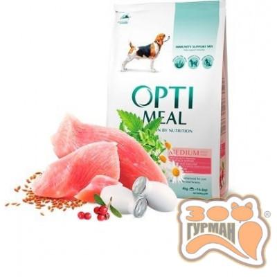 купити Optimeal (Оптимил) сухой корм для взрослых собак средних пород с индейкой в Одеси