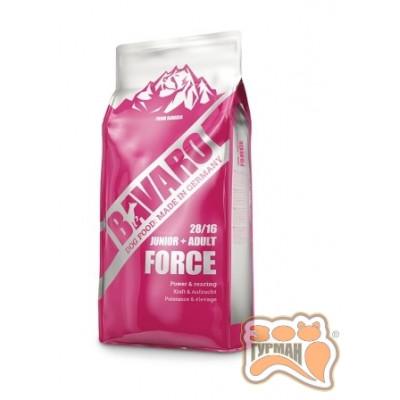 купити Bavaro Force 28/16 для собак с интенсивной физической нагрузкой, 18кг в Одеси