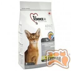 1st Choice (Фест Чойс) с уткой и картошкой гипоаллергенный сухой супер премиум корм для котов