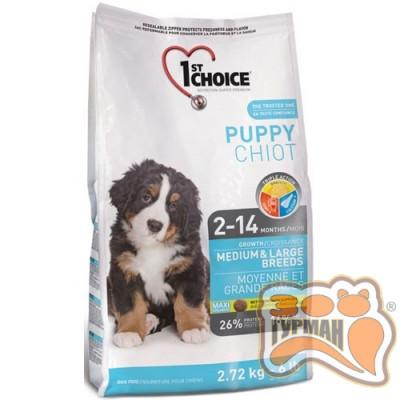 купити 1st Choice (Фест Чойс) с курицей сухой супер премиум корм для щенков средних и крупных пород в Одеси