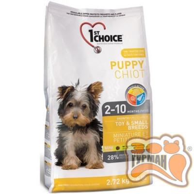 1st Choice (Фест Чойс) с курицей сухой супер премиум корм для щенков мини и малых пород
