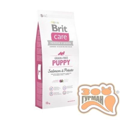 купити Brit Care (Брит Кеа) Grain-free PUPPY - беззерновой корм для щенков всех пород (лосось/картофель) в Одеси