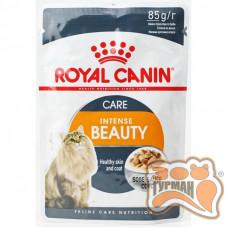 Royal Canin Intense Beauty для дорослих котів віком від 12 місяців для підтримання здоров'я шкіри та краси шерсті соус