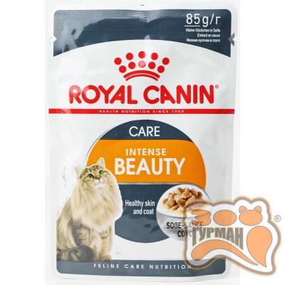 купити Royal Canin Intense Beauty для дорослих котів віком від 12 місяців для підтримання здоров'я шкіри та краси шерсті соус в Одеси