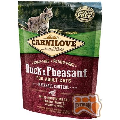 купити Carnilove Cat Duck & Pheasant Hairball Control с уткой и фазаном для выведения комков шерсти в Одеси