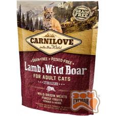 Carnilove Cat Lamb & WildBoar Sterilised с ягненком и мясом дикого кабана для взрослых стерилизованных кошек