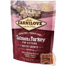 Carnilove Cat Salmon & Turkey Kitten с лососем и индейкой для котят