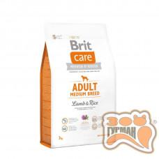 Brit Care (Брит Кеа) ADULT MEDIUM BREED Lamb & Rice - корм для собак средних пород (ягненок/рис)