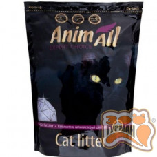 AnimAll Фиолетовый аметист - Силикагелевый наполнитель для кошачьего туалета