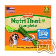 Nylabone Nutri Dent Chicken Medium НИЛАБОН НУТРИ ДЕНТ ЧИКЕН жевательное лакомство для чистки зубов для собак до 16 кг, 1шт