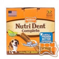 Nylabone Nutri Dent Filet Mignon НИЛАБОН НУТРИ ДЕНТ лакомство для чистки зубов собак до 16 кг, филе миньон, 1шт