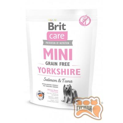 купити Brit Care Mini Grain Free Yorkshire Брит Кеа Сухой беззерновой гипоаллергенный корм для йоркширских терьеров в Одеси