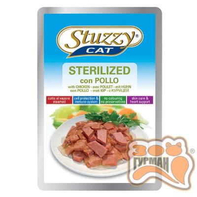 STUZZY Cat Sterilized Chicken ШТУЗИ СТЕРИЛАЙЗИД КУРИЦА в желе для кошек, 100г
